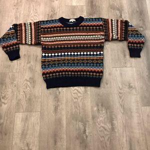Vtg Guy Laroche Paris Multicolor Striped Sweater